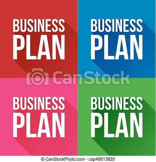Business plan sign vector - csp48813820