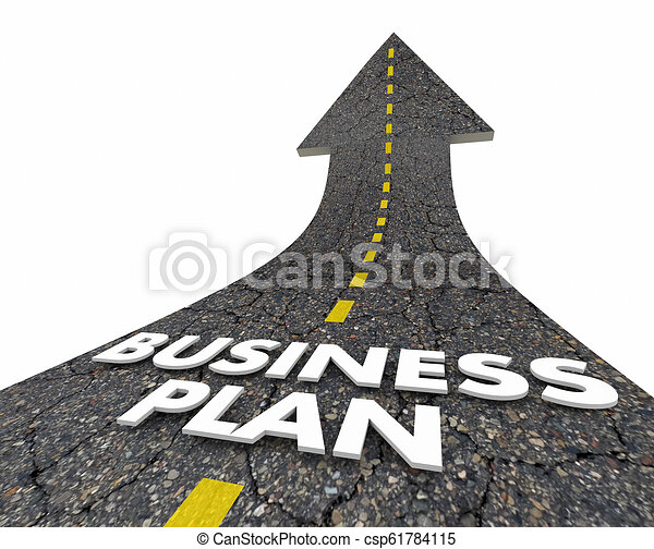 Business Plan Strategy Road Arrow 3d Illustration - csp61784115