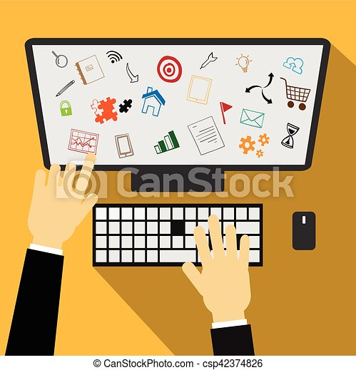 Business plan vector - csp42374826