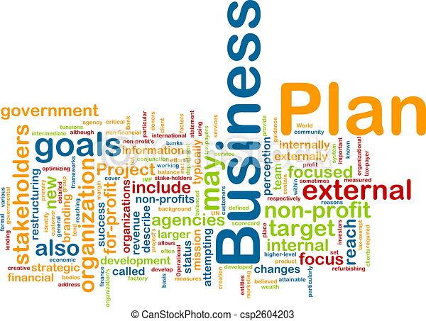 Business plan word cloud - csp2604203