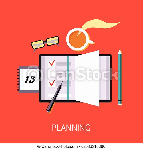 Business Planning Concept Art - csp36210386
