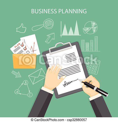 business planning concept - csp32880057