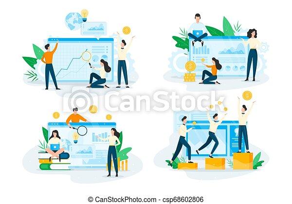 Business planning concept set. Idea of analysis - csp68602806