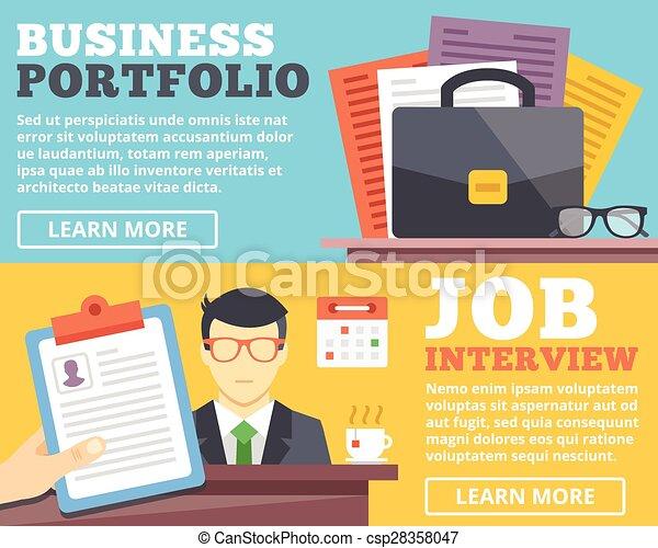 job interview portfolio