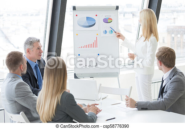 Business presentation in office - csp58776390