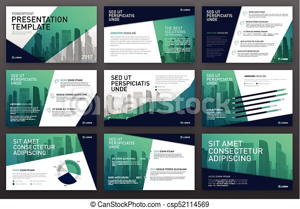 business presentation templates with infographic elements use for