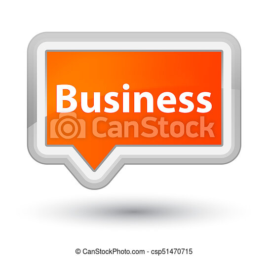 Business prime orange banner button - csp51470715