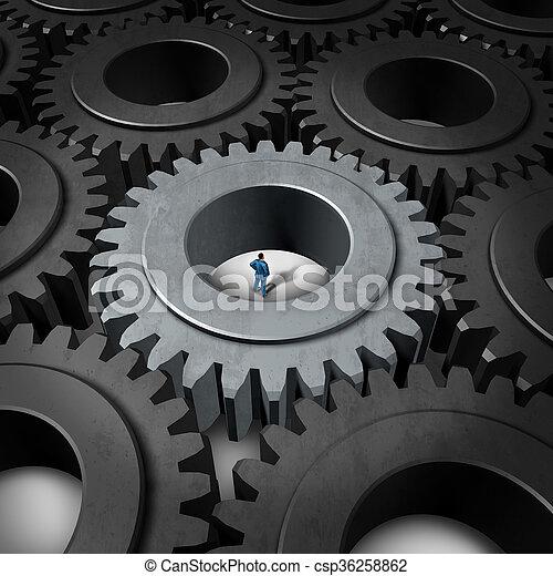 Business Prison Concept - csp36258862
