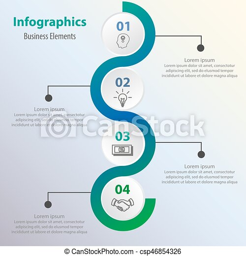 Business process chart business data abstract element of chart business process chart business data abstract element of chart graph diagram with 4 steps options parts processes vector business template for ccuart Images