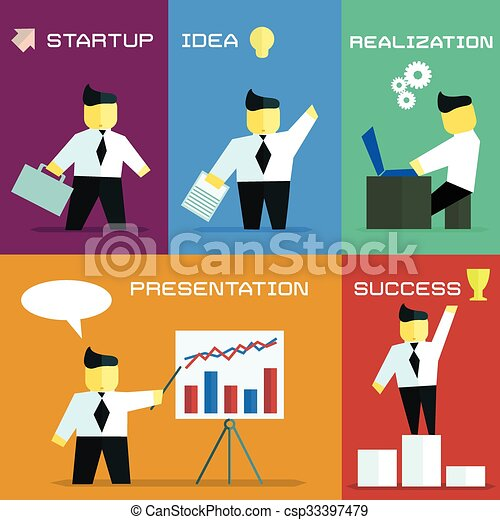 business process in flat style - csp33397479