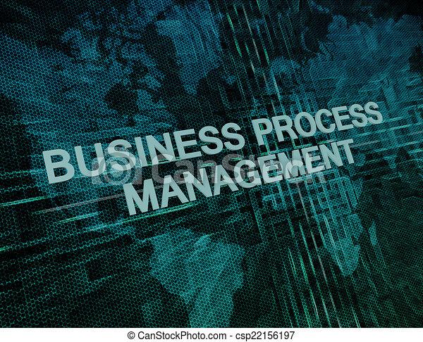 Business process management text concept on green digital world map business process management csp22156197 gumiabroncs Images