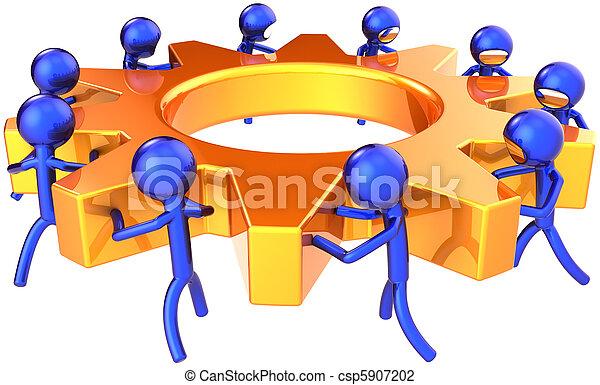 Business process teamwork concept - csp5907202