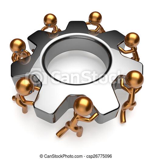business, processus, association, collaboration, coopération, équipe - csp26775096