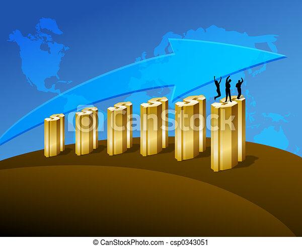 Business Profit Growing - csp0343051