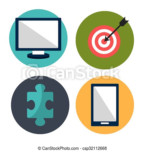 business project management graphic design with icons vector rh canstockphoto com project management clip art free