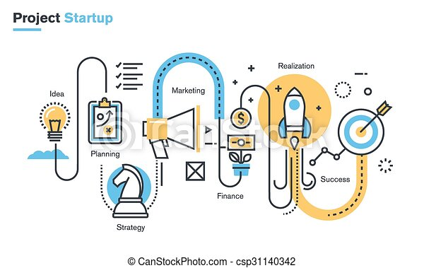 Business project startup process - csp31140342