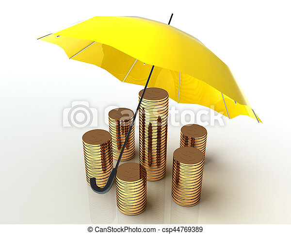 Business protection concept. 3d image. White background. - csp44769389