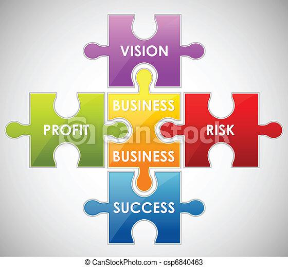 Business Puzzle - csp6840463