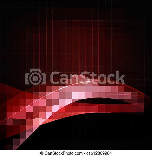 business, résumé, illustration, élégant, fond, rouges - csp12809964