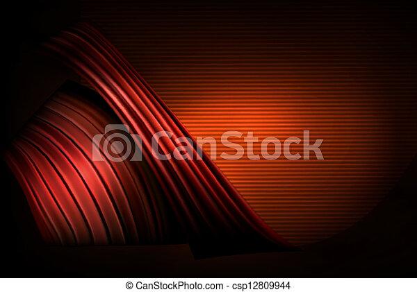 business, résumé, illustration, élégant, fond, rouges - csp12809944