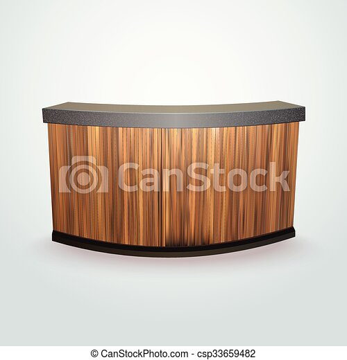 Business Reception Counter Modern Design Office Reception