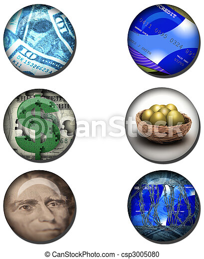 Business related Web Buttons - csp3005080