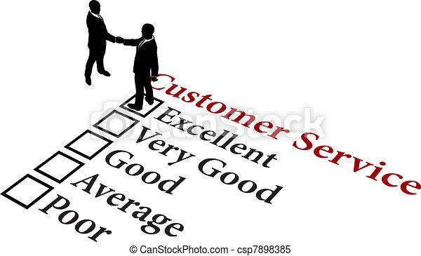 Business relationship excellent customer service - csp7898385