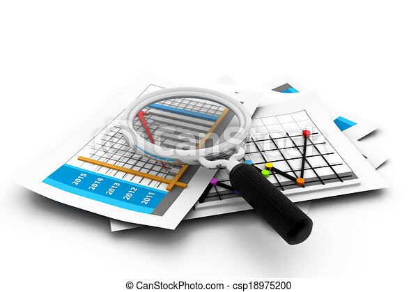 Business report analyzing - csp18975200