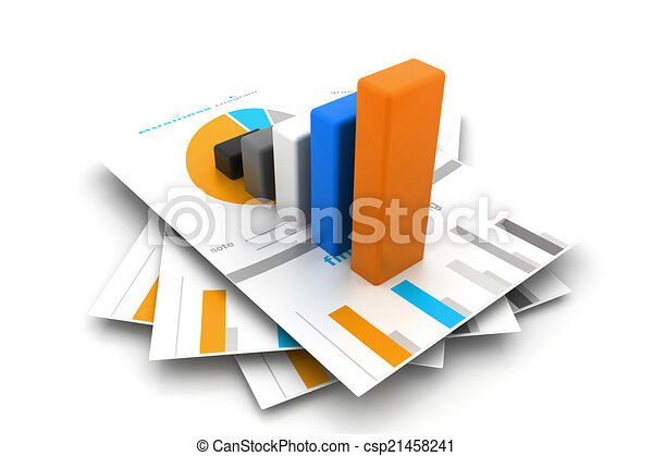 Business report and graph - csp21458241