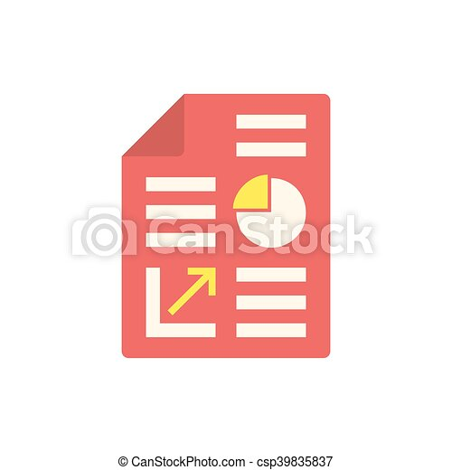 Business report icon - csp39835837