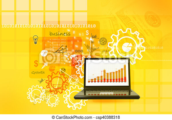 Business report in abstract background - csp40388318