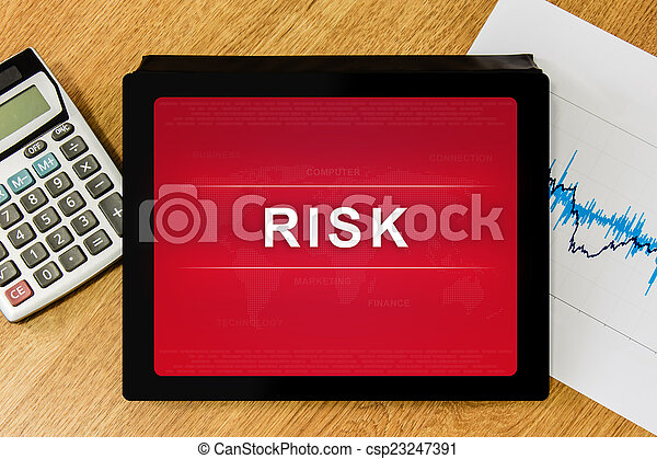 business risk word on digital tablet - csp23247391