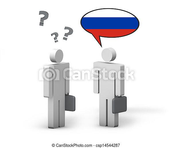 Business Russian Language Concept - csp14544287