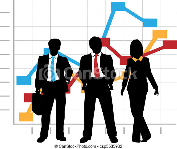 Business Sales Team Company Growth Graph Chart - csp5535932