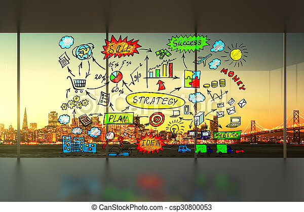 Business scheme in the office concept - csp30800053
