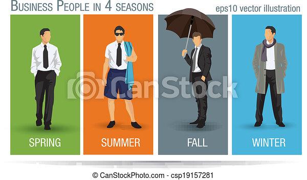 Business seasons - csp19157281