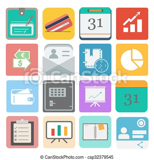 business set icon - csp32379545