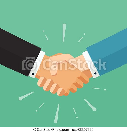 business shaking hands vector symbol of success deal happy rh canstockphoto com shaking hands vector art shaking hands vector png
