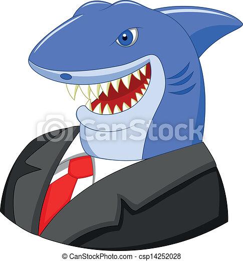 Business shark cartoon - csp14252028