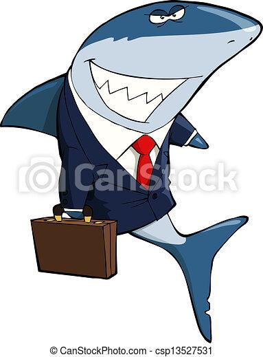 Business shark - csp13527531