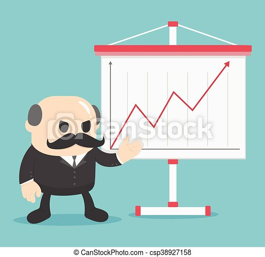 Business show graph growing up. - csp38927158