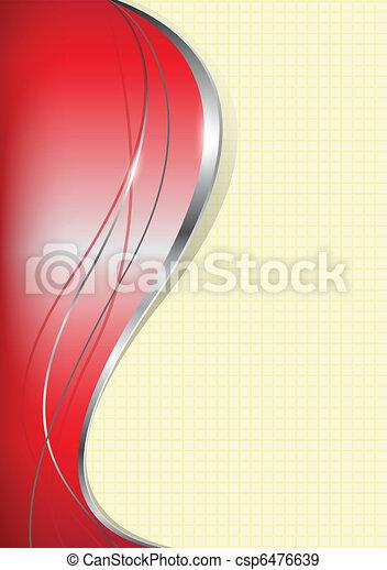 business, si, résumé, fond, rouges - csp6476639