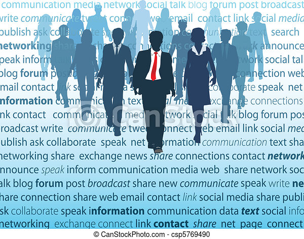 Business social media network people concepts - csp5769490