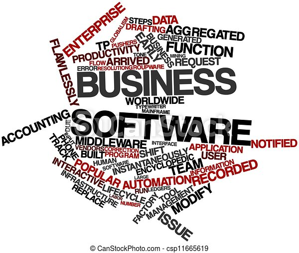 Business software - csp11665619