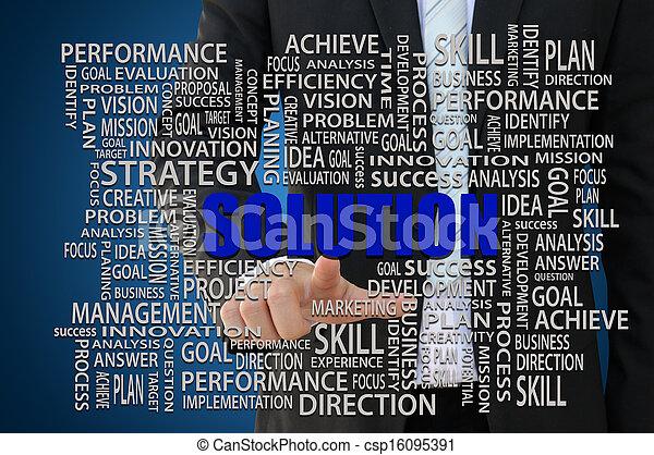 Business Solution Concept - csp16095391