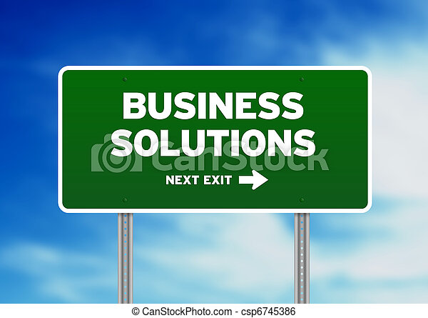 Business Solutions Highway Sign - csp6745386