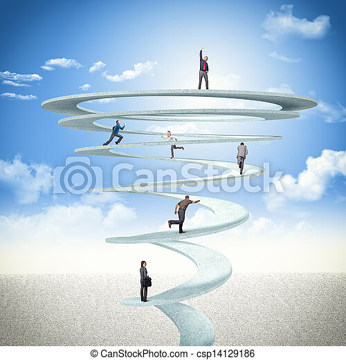 business spiral - csp14129186