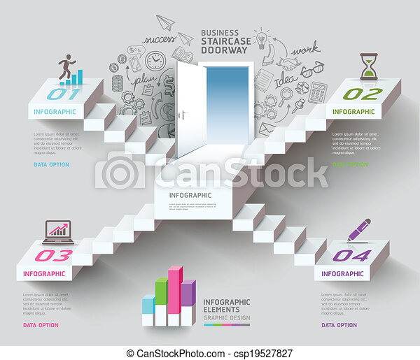 Business staircase thinking idea. - csp19527827