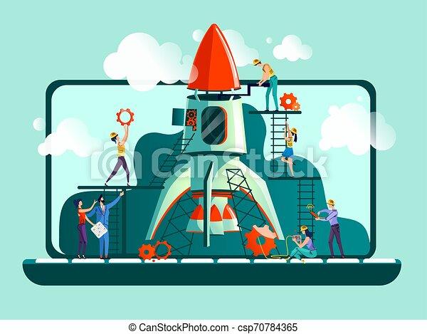 Business start up concept vector illustration - csp70784365