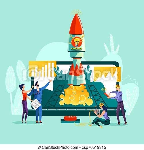 Business start up concept vector illustration - csp70519315